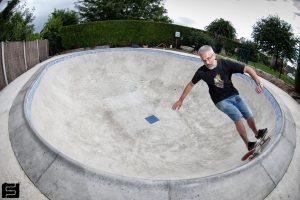 Sylvain Stricanne: le secrétaire/trésorier d'ABC Skatepark dans le bowl d'ABC